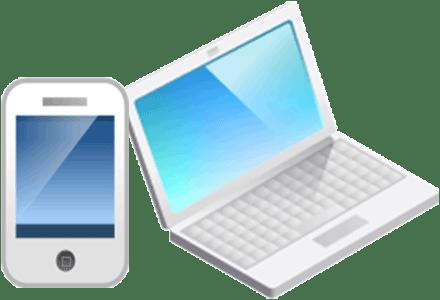 スマートフォン・パソコンの画像